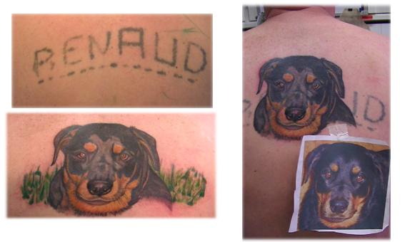 Tatouage couleur cover tête chien sur renaud 88 (4)