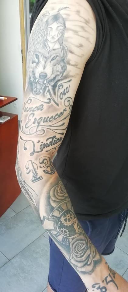 Salon De Tatouage Noir Ombrage Seclin Babylone Tattoo